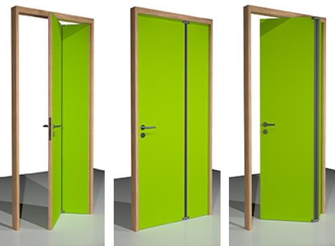 Deco Double: Space saving doorkit