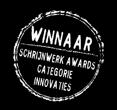 PURE kantlat: Winnaar Schrijnwerk Award 2014 (categorie Innovaties)